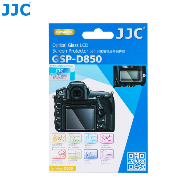 JJC For NIKON GSP-D850 Ultra-thin LCD Screen Protector Camera Display Cover