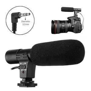 Image 5 - Универсальный внешний стерео микрофон 3,5 мм для Canon Nikon DSLR Camera DV Camcorder MIC 01 SLR Camera