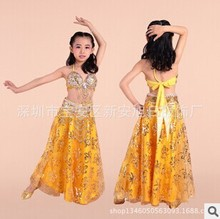 New Arrival Girl Belly Dance Set Dress averager size Dance Costumes nice Children Dance Clothese for small Dancer