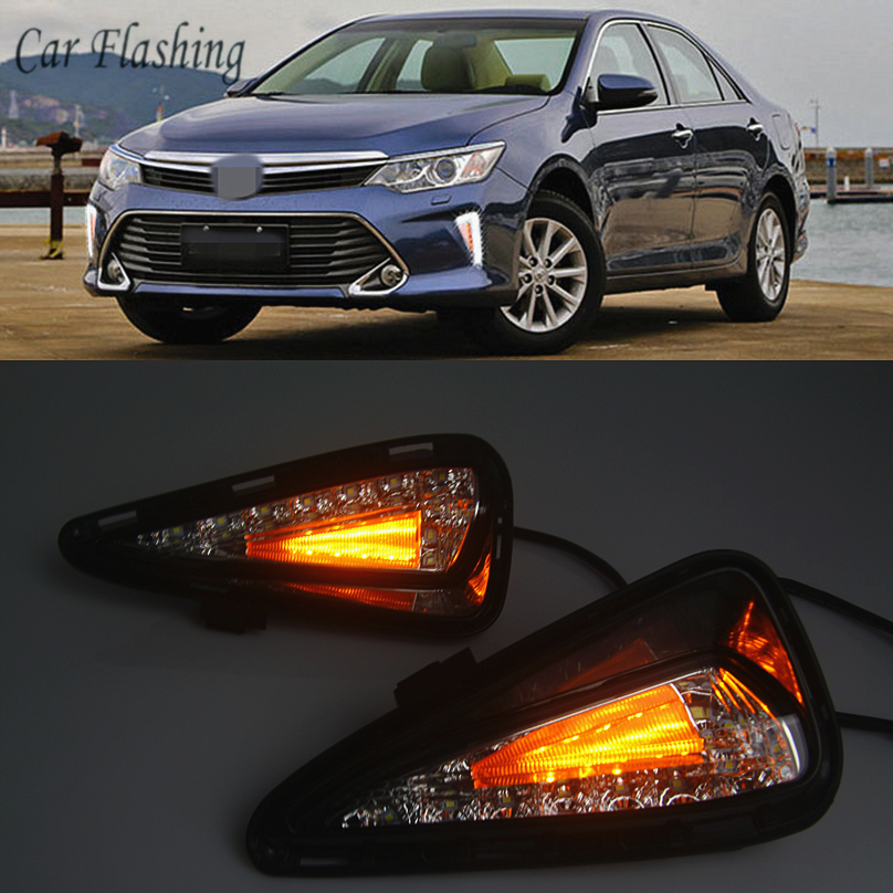 Car Flashing car styling For Toyota Camry 2015 2016 2017 LED DRL Daytime driving Running Light