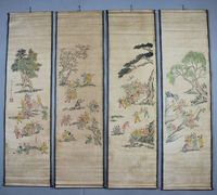 Antique collection Boutique Calligraphy and painting Hundred subgraph diagram