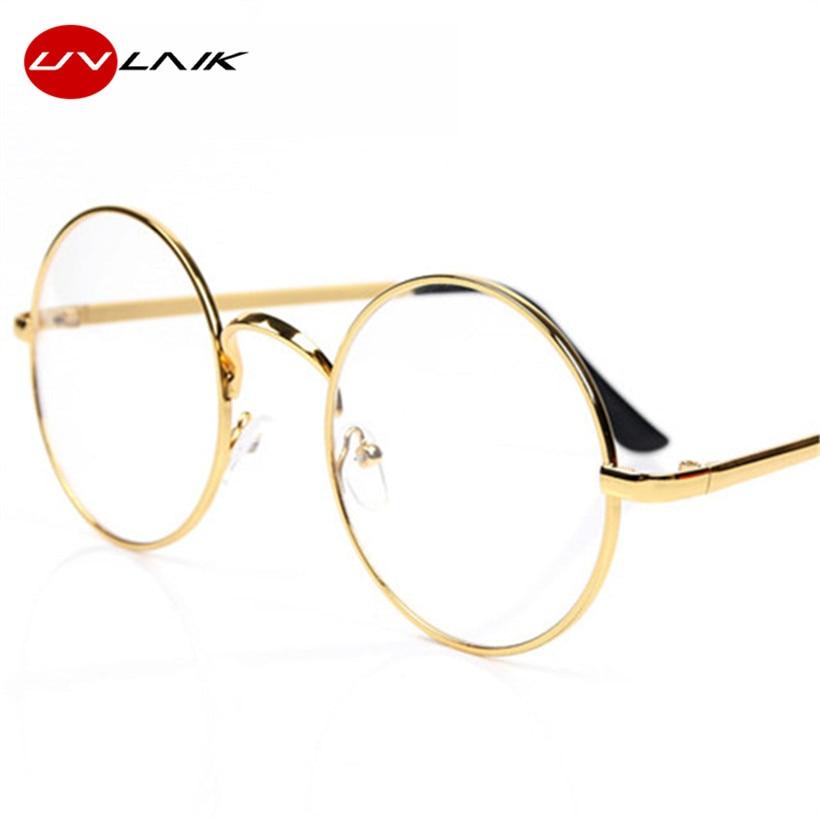 Gafas de gafas redondas UVLAIK para gafas Harry Potter con vidrio transparente Mujeres Hombres Miopía Gafas transparentes ópticas