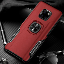 P30 Invisible Bracket Case for Huawei P30 P20 Mate 20 Pro Lite Pro Honor Case FingerRing Cover Magnet Mount Air Vent Car Holder(China)