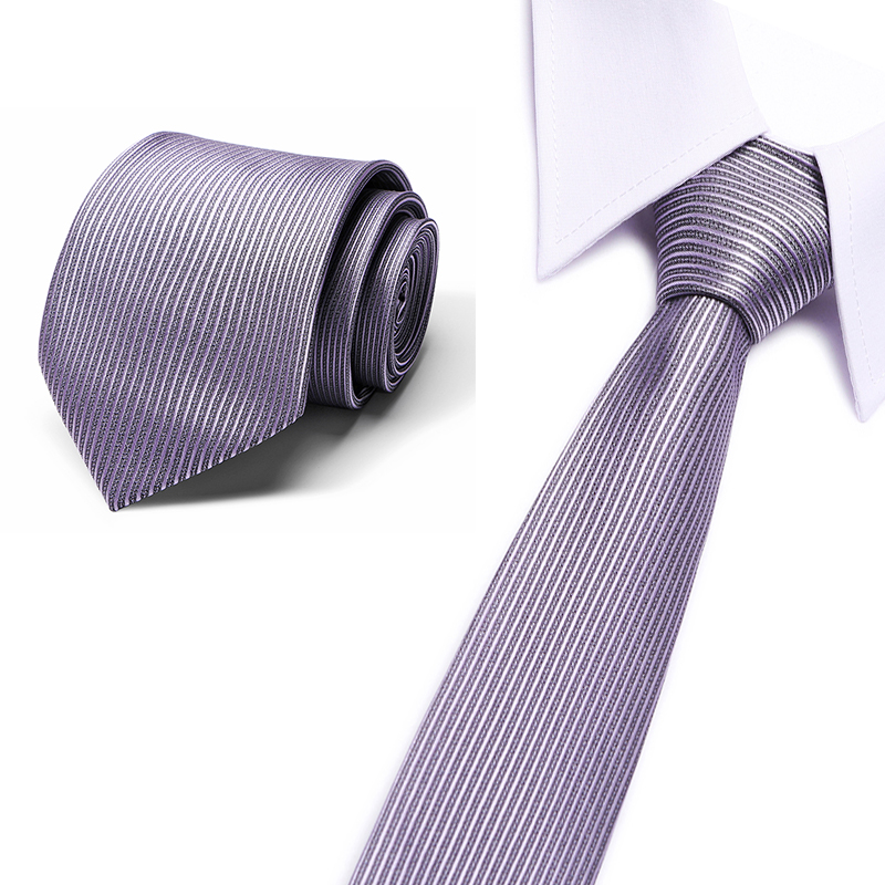 Fashion Mens Ties Luxury Silk Men's Necktie Male Neck Tie For Business Formal Suit Tie 80cm Grey Classic Neck Tie