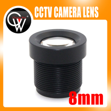5PCS/LOT 8mm lens Board Camera Lens 1/3″ and 1/4″ F2.0 Lens For CCTV CCD CMOS Security Camera