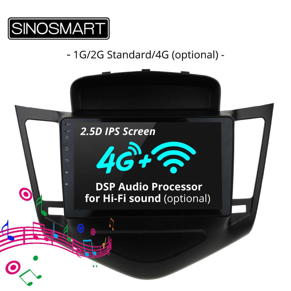 Обновленное головное устройство Sino-Smart4 Core RAM 2G/1G Android 6.0 Chevrolet Cruze 2009 2010 2011 2012 2013 c CanBus