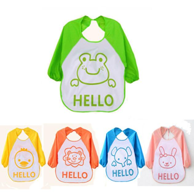 CHAMSGEND Bibs Fashion Kids Baby Cute Kids Child Cartoon Translucent Plastic Soft Baby Waterproof drop ship H40 Oct09
