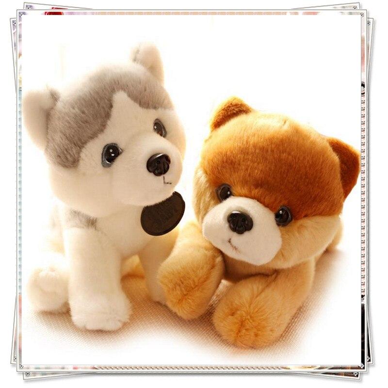 Plysch husky hund plysch leksaker spongebob enhörning leksak kawaii plysch söta fyllda djur med stora ögon ty dockor nyår 2017