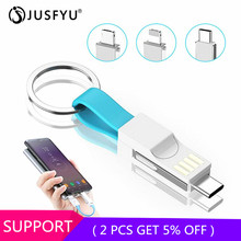 3 in 1 Portable Micro USB Type C Magnetic Charger Cable For iPhone Samsung s6 s7 s8 s9 Mini Keychain Data Charging Cables Cord цена и фото