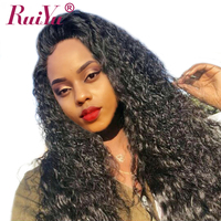 Deep Wave Wig Brazilian Lace Front Human Hair Wigs For Black Women RUIYU Remy Lace Wig Pre Plucked With Baby Hair Full End Wigs