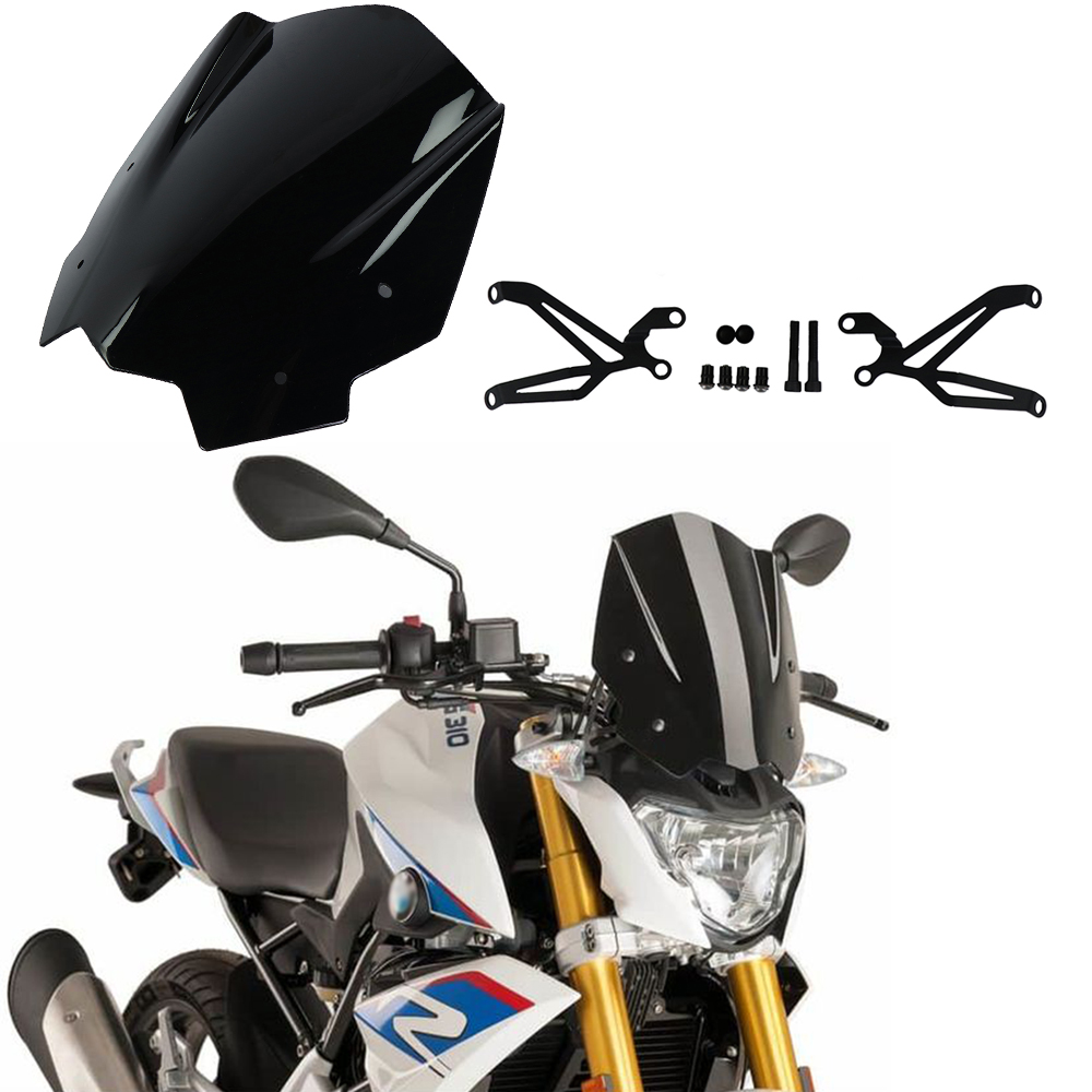 For BMW G310R 2017-On Motorcycle Windshield Windscreen with Mounting bracket High Quality ABS Plastic for bmw g310r 2017 on motorcycle windshield windscreen with mounting bracket high quality abs plastic