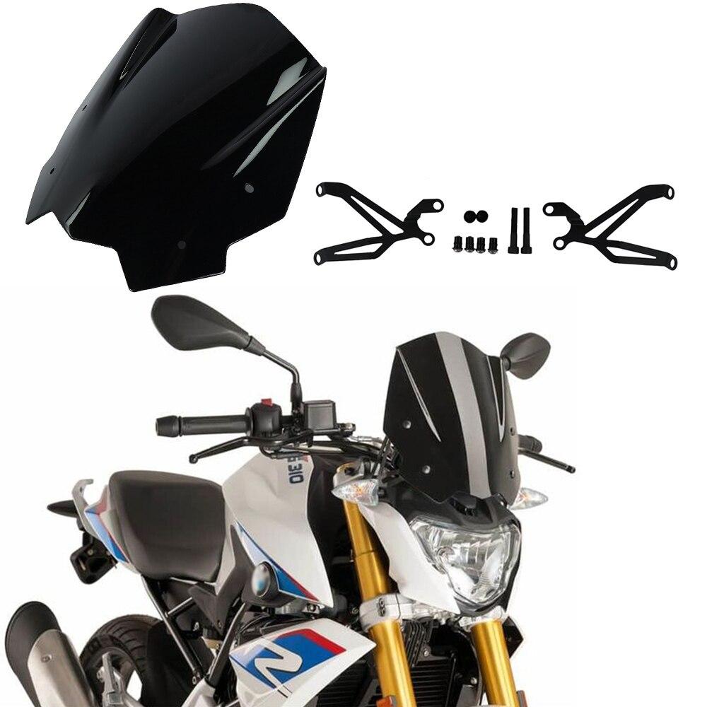 Areyourshop Parabrisas de pl/ástico ABS para motocicleta G310R 2017-2018