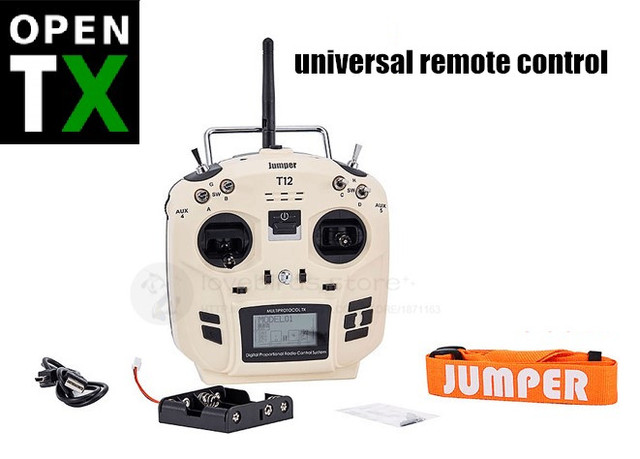 US $125 0 |Jumper T12 12 CH OPEN TX LNB multi protocol universal remote  control for DIY RC FPV drones Compatible CRSF FUTABA DSM FRSKY-in Parts &