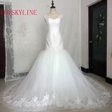 Cuadros reales de marfil blanco vestido de novia de gran tamaño Vintage musulmanes tallas grandes de cuello barco vestido de novia de perlas 2018 princesa sin mangas