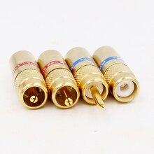4 piezas 8,0mm RCA enchufes jack adaptador de extensión para diy RCA cable