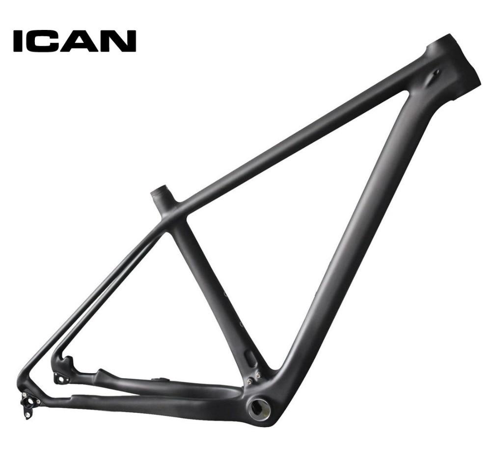 ICAN 29ER Carbon Frame Mtb Mountain Bike 142x12 135x9 UD-matt Mtb Carbon Frame 29er BB92 Bottom Bracket Bicycle Frame X6