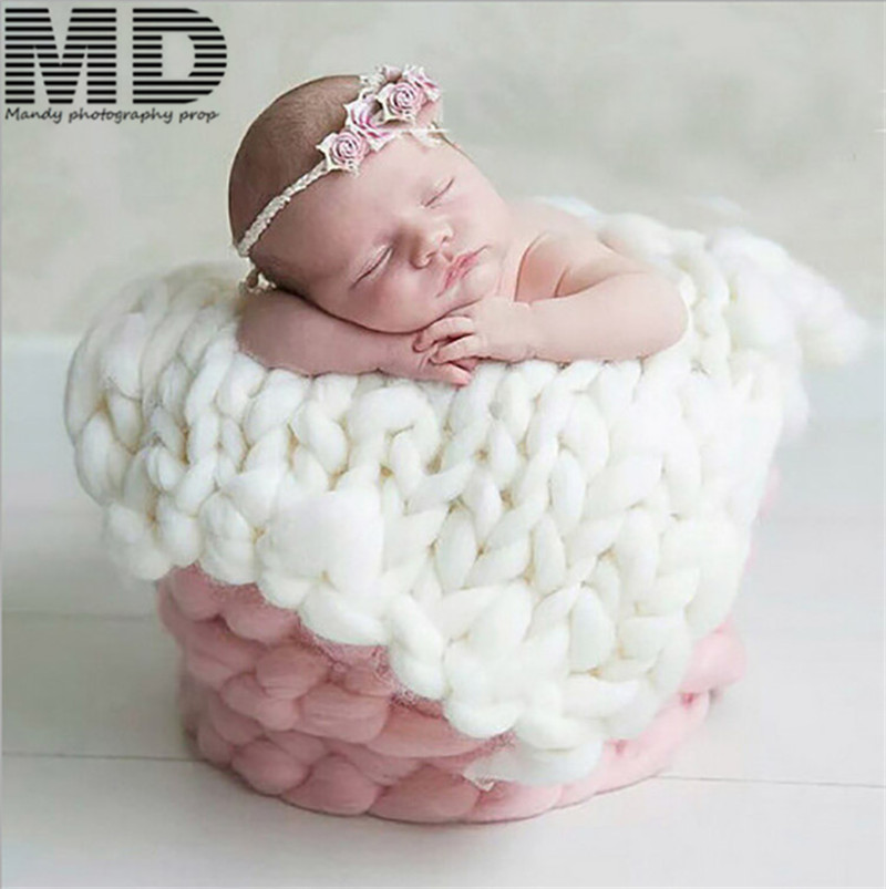 Baby Soft Blanket For Newborn Photography Props,basket Filler Cushion Cover,baby Photo Props(55*55 Cm)