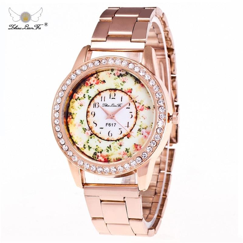 Zhou Lian Fa Women Quartz Watch Gold Silver Stainless Steel Wrist Watch Men's Watch Luxury Casual Quartz Watch Women Clockss