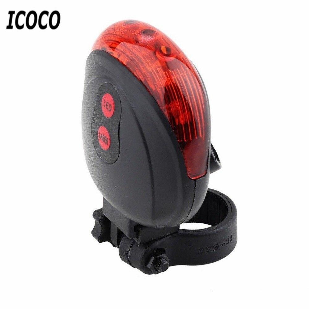 5 LED 2 Laser Bike Light 7 Flash Mode Cycling Safety Bicycle Rear Lamp Waterproof Laser Tail Warning Lamp Flashing