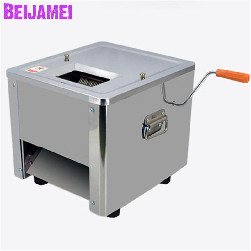 BEIJAMEI Stainless Steel Meat Slicing Cutting Machine/electric Commercial Fresh Meat Slicer Cutting Machine