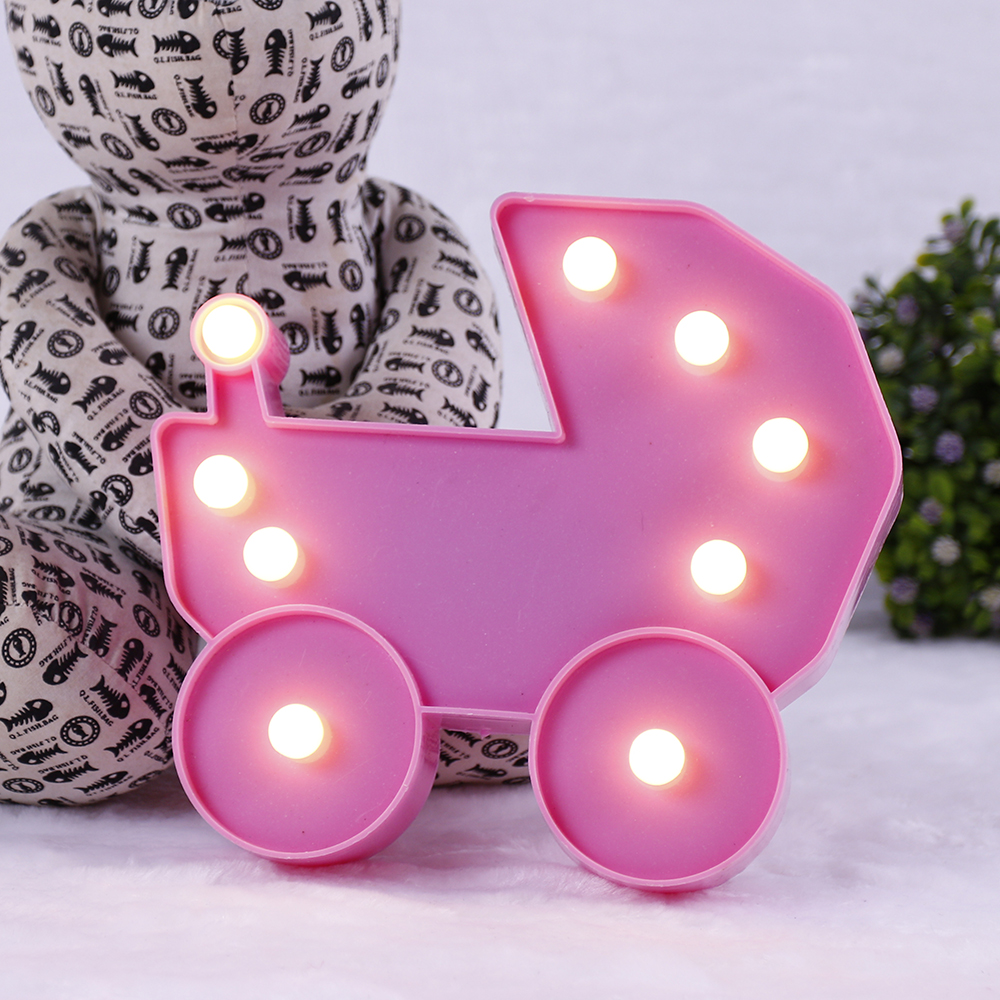 3D Fashion LED Night light Romantic Night Lamp Baby Carriage LED Light Home Decor Table Lamp For Kid Bedroom Gift D40 in LED Night Lights from Lights Lighting