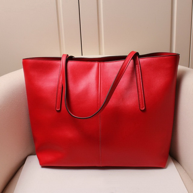 Genuine leather women's shoulder bag soft leather tote bags free shipping