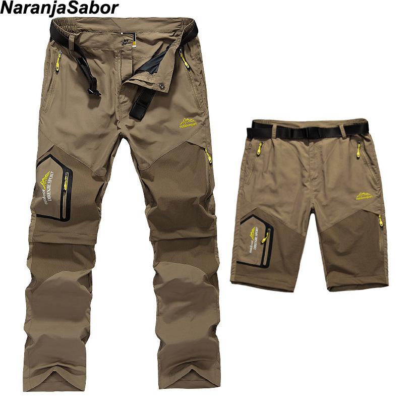 NaranjaSabor Men s Removable Quick Dry Casual Pants Men Thin Trousers Male Army Military Short Cargo Innrech Market.com