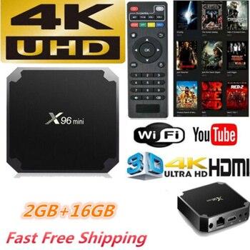 X96 mini tv box android 7.1 2GB 16GB WiFi Media Player X96mini smart Set-top tv Box Amlogic S905W tvbox Quad Core