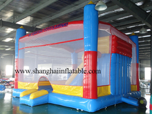 2017 customized inflatable bouncer slide combo/PVC commercial used inflatable bounce house/outdoor playground