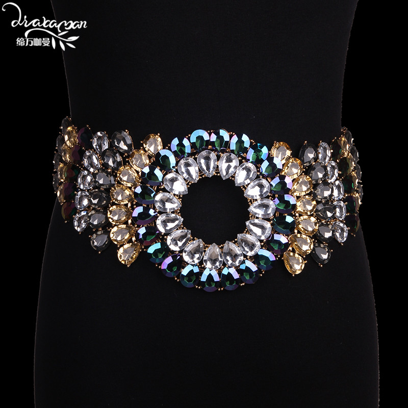 Dvacaman Brand Luxury Crystal Waist Chain Fashion Sexy Body Belly Chains Women Wedding Party Statement Jewelry Femme Bijoux GG54