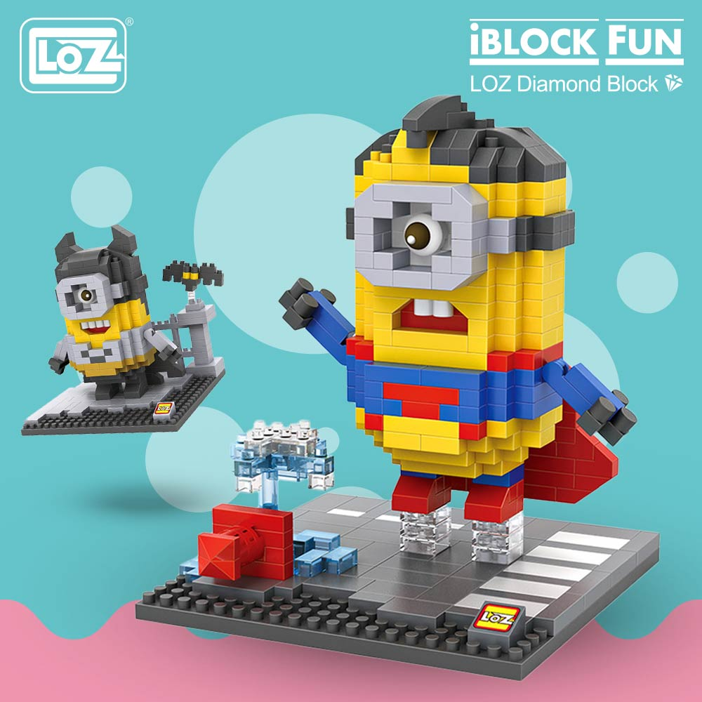 LOZ Diamond Blocks Super Heroes Figuras Plastic Assembly Toys Cartoon Pixels Action Figures Creative Gift Educational 9536-9543LOZ Diamond Blocks Super Heroes Figuras Plastic Assembly Toys Cartoon Pixels Action Figures Creative Gift Educational 9536-9543