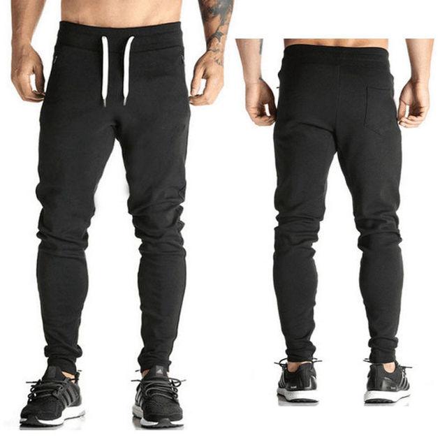 Men S Casual Cotton Pants Baggy Loose Slacks High Waist Long Length