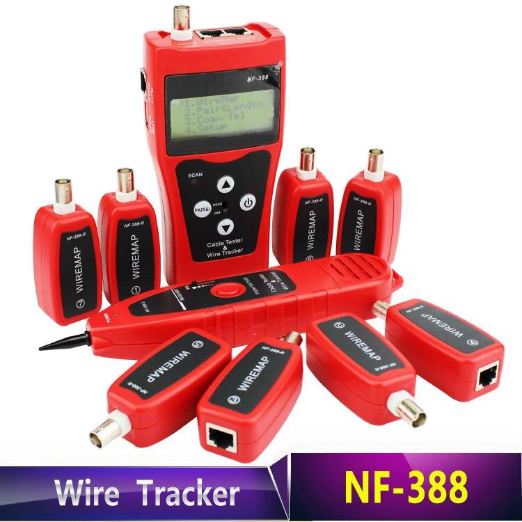 Nf-388 CAT5 CAT6 RJ45 UTP STP линии Finder Телефон Провода трекер Диагностика тон Tool Kit локальной сети кабельного тестера
