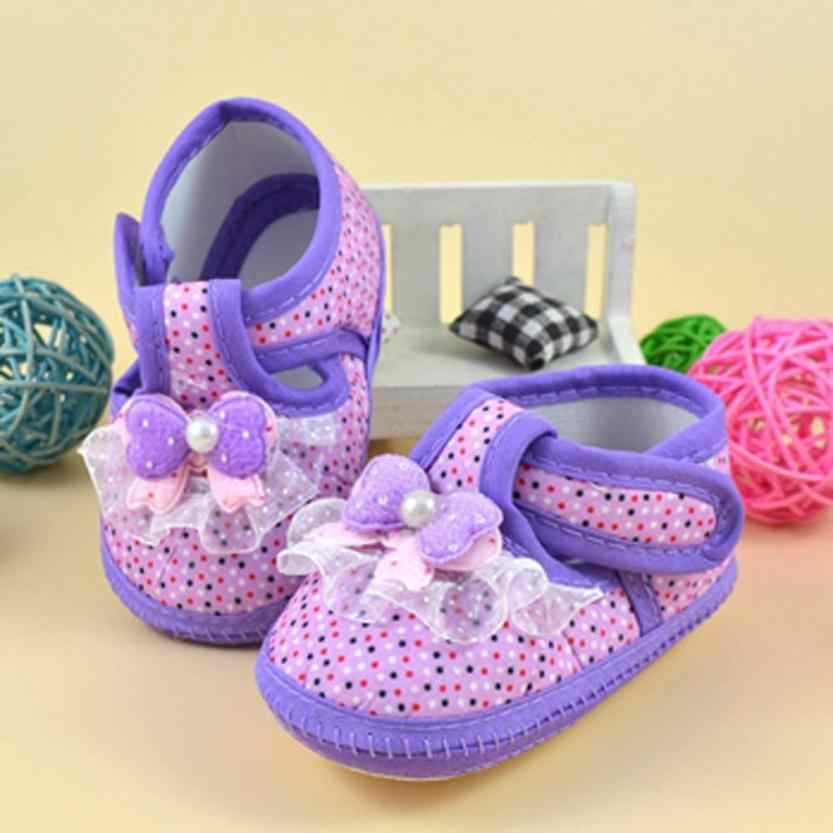 2018 ARLONEET New Fashion brand Children Baby shoes slippers Bowknot Boots Soft Crib Kids First Walkers For Girl Boy A#