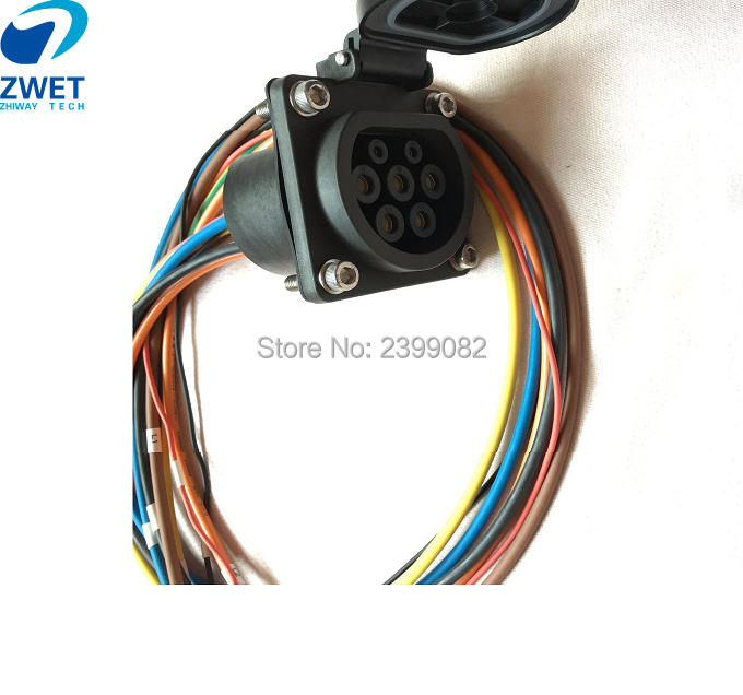 ZWET IEC 62196 Type2 3 Phases Charging Socket European standard EV charging Type 2 connector for