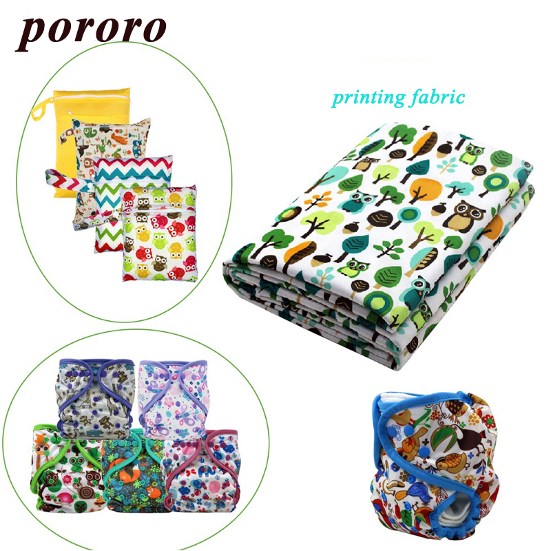 100% Polyester Printed Digital Printing Fabric Waterproof Baby Cloth Diaper TPU Coating Sold by Meter Wholesale Customization