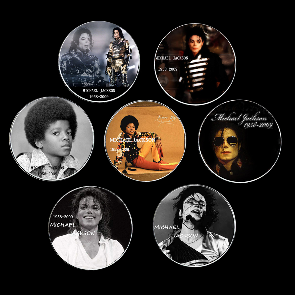 8pcs/lot The New Commemorating Superstar Mike Jackson Collection Arts Gifts Souvenir Home Decoration Us Coins