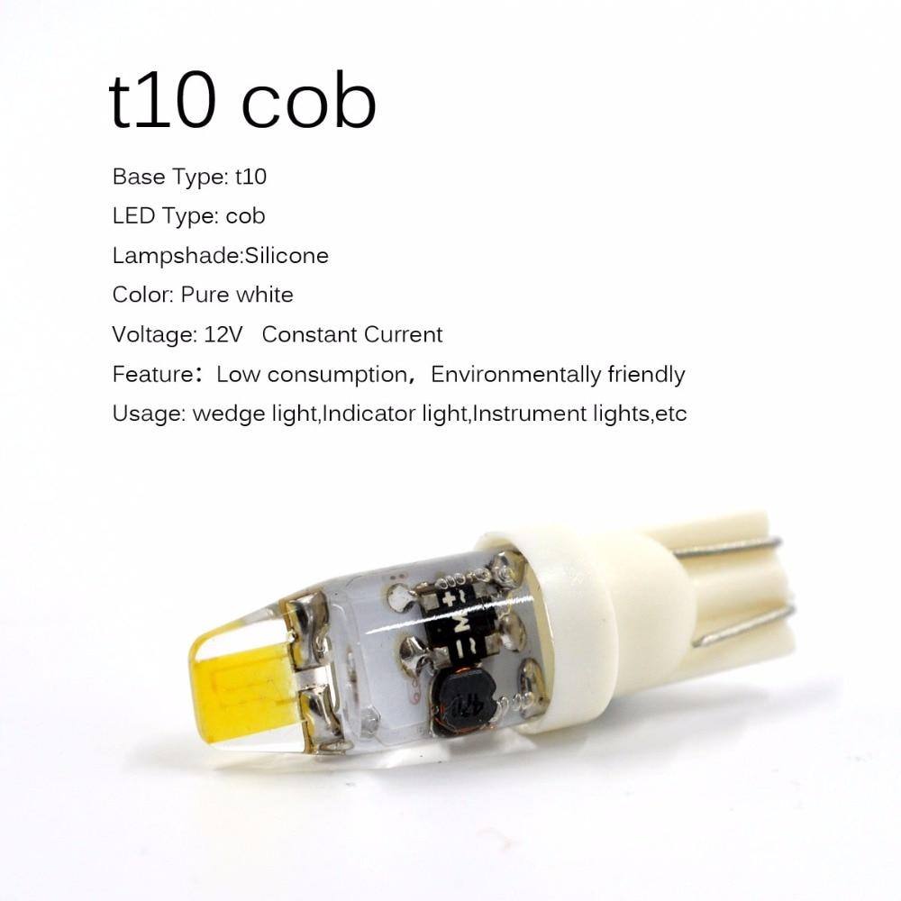 AutoEC 2x t10 c5 w5w g4 12v led силикон жарығы 194 - Автокөлік шамдары - фото 2