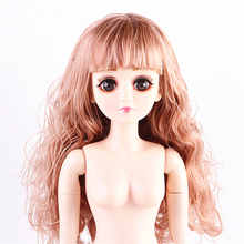 1/3 60cm Bjd Dolls 26 Movable Jointed Girl Dolls 3D Eyes with Shoes Accessories Female Nake Nuded Body Doll Toy Girls Gift 60cm bjd doll 24 1 3 sd dolls with beauty dress shoes wig makeup full outfits 18 ball jointed dolls for girls toys gift