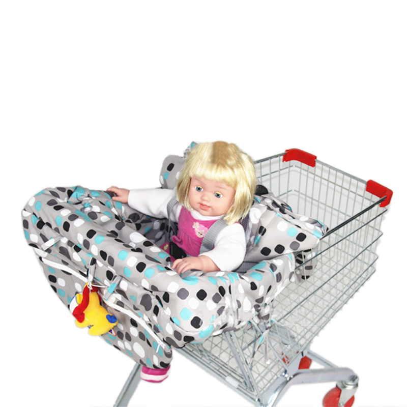 Multifunctional Baby Children Folding Shopping Cart Cover Colorful Anti Dirty Safety Seats Striped Nylon Outdoor Chair