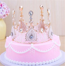 girls women crown cake topper adult party birthday decorating supplies decoration cupcake toppers
