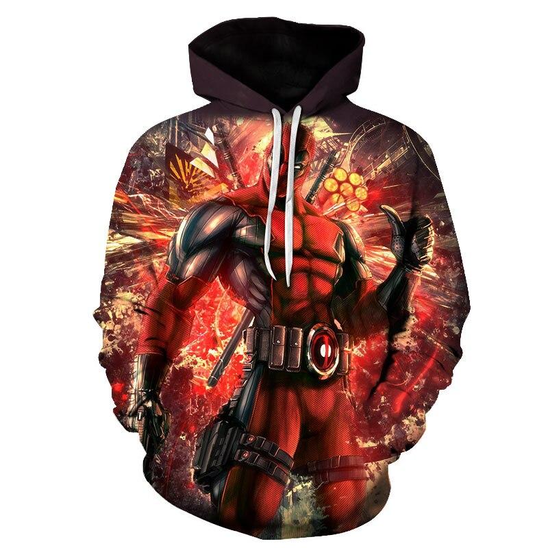 Super Hero Men 3D Sweatshirt Costume SpiderMan Avengers Marvel Hoody Sweatshirts Fashion Men Hoodies Cool Printed Sweatshirts