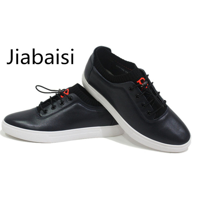 Jiabaisi shoes men`s casual shoe leather linning loafers  Elastic Daily fashion comfort Genuine Cow leather shoes brand camel men s 2015 spring new leather men s shoes simple daily casual men loafers