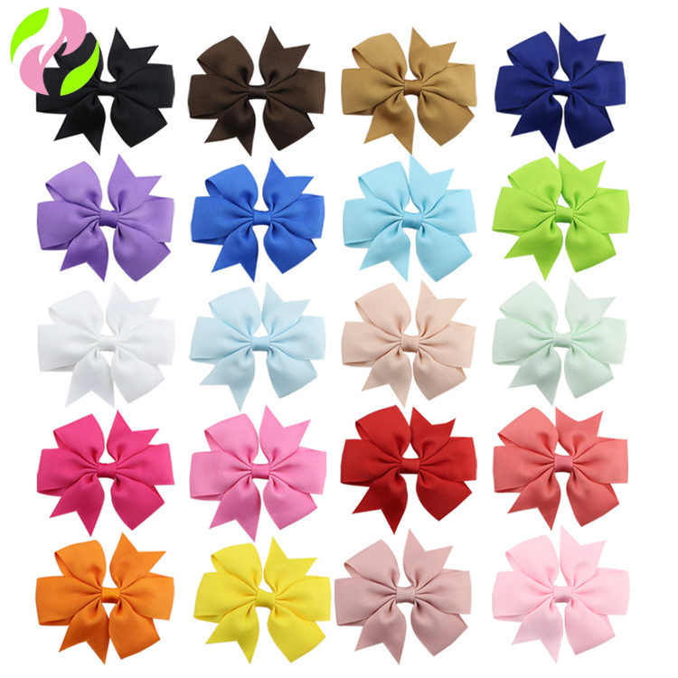 048b6b36a9de Grosgrains Ribbon Bow with Hair Clip Women Hairpin Cheap Headwear for Kids  40 Colors Available 1801ZYAA1715