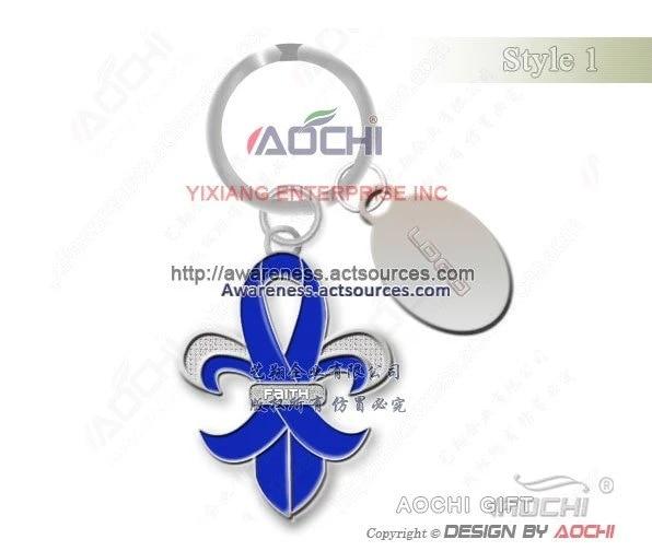 Free Shipping Newest High Quality Colon Cancer Awareness Supporter Blue Ribbon Fleur De Lis Keyrings Ribbon Print Ribbon Makerribbon Lace Up Heels Aliexpress