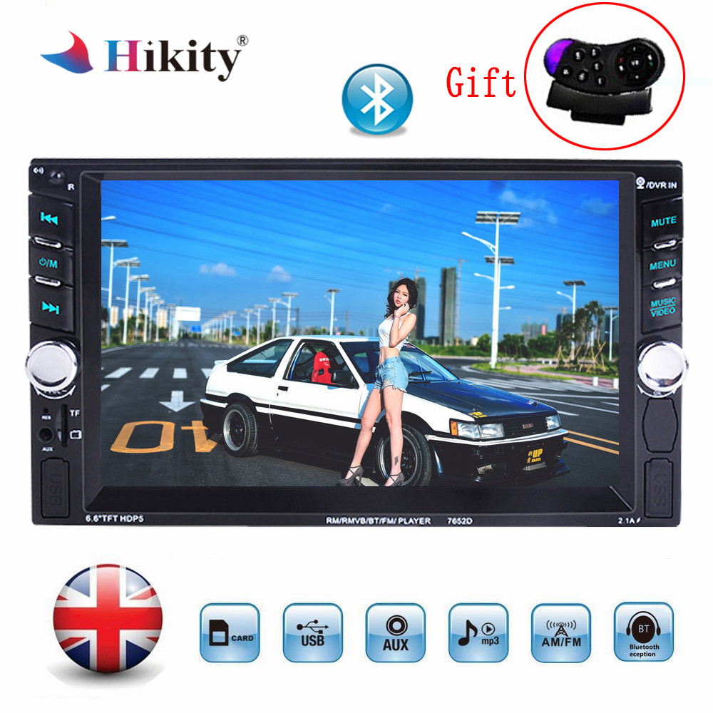2 Din 6.6 LCD Touch Screen Car Radio Mp5 Audio 12v Auto Radio Player With Bluetooth Hands Free Rear View Camera Autoradio Stereo podofo 2 din car radio 6 6 lcd touch screen car audio 12v auto radio player with bluetooth fm rear view camera autoradio stereo