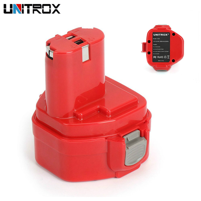 2Pcs 12V 3 0Ah NiMh Makita Replacement Battery for 1220 1222 1234 1235  192598 2 PA12, 12 Volt NiCd Cordless Power Tools