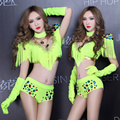 Neon green costume ds lead dancer clothing sexy female costumes stage dj performance wear clothes for singer dancer star show