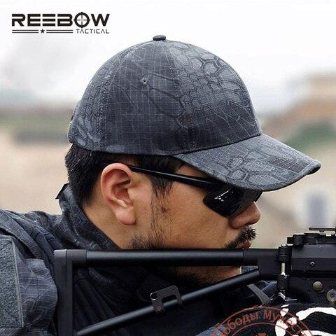 Boné de Beisebol Reebow Tactical Outdoor Sports Camping Camuflagem Biônico Ajustável Cap Secagem Rápida Outono Caminhadas Caça Tiro