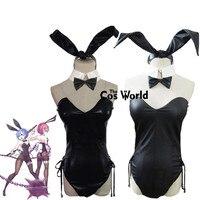 Re Zero Kara Hajimeru Isekai Seikatsu Ramu RAM Remu REM Sexy Bunny Girl Maid Dress Uniform